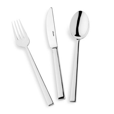 Cutlery Set - 4 Pieces - Cantone in 180g Silver Plated Polished Surface