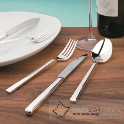 Dinner Spoon Cantone in 180g Silver Plated Polished Surface